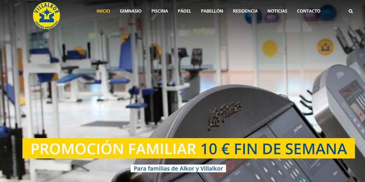 Inauguración Web Centro Deportivo Villalkor